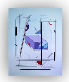 Original Geometric Painting  Abstract Painting by LenDickson