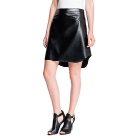 1. STATE Faux-Leather Skirt