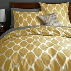 Organic Ikat Ogee Duvet Cover + Shams | west elm