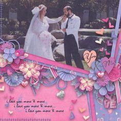 Beautiful digital scrapbook layout by Blondy using It Must Be Love by Bekah E Designs
