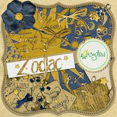 Zodiac -  digital scrapbooking and crafting digikit - for Serif CraftArtist on DaisyTrail by our designer Siobhan Sands