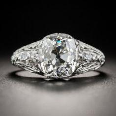 2.69 Carat Antique Cushion Diamond Art Deco Ring - GIA I SI1 - What's New