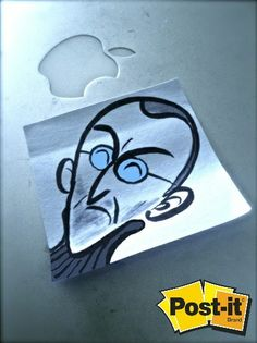 ¿Como les parece este tributo a Steve Jobs? Una obra de arte en un Post-It. Dale like si admirabas a la persona que revolucionó la industria de la tecnología.