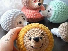 Crochet Amigurumi Patterns This hedgehog plushie would be a great friend for children and adults. A step by step amigurumi video tutorial to crochet a cute hedgehog from plush yarn. Crochet Teddy, Crochet Bunny, Cute Crochet, Crochet Animals, Knit Crochet, Crochet Motif, Amigurumi Free, Crochet Patterns Amigurumi, Crochet Dolls