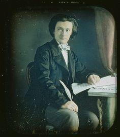 Portrait of C. Camille Saint-Saens, composer, ca 1850