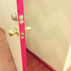 Color Pop- Painting the Inside of Your Doors