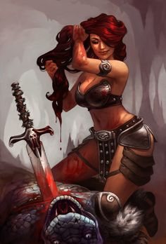 another less popular version of Red Sonja