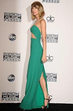 Taylor Swift wearing the Jimmy Choo Raven.