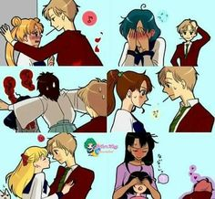 The Sailor Moon Pocky Game with various outcomes XD LOL!!!