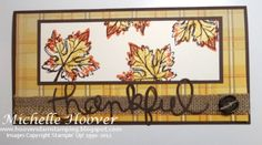 Gently Falling Thankful - expressions thinlits, burlap ribbon, gently falling, leaves, autumn, fall, rock & roll technique.  Featured at www.TooCoolStamping.com