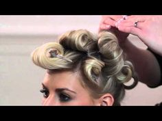 Pin Curl Tutorial for a Voluminous Hairstyle - YouTube