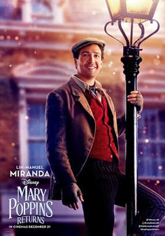Lin-Manuel Miranda in Mary Poppins Returns Disney Pixar, Walt Disney, Disney Love, Ben Whishaw, Into The Woods, Clint Eastwood, Mary Poppins Film, Watch Mary Poppins, Emily Blunt Mary Poppins