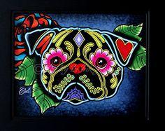 Day of the Dead Boston Terrier Sugar Skull by PrettyInInkJewelry