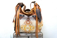 New///Agatha in Tribal Oregon Wool with Brown by arebycdesign, $188.00