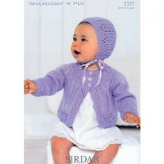 Cardie and Bonnet in Sirdar Snuggly 4 Ply (1331) $4.79