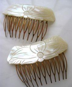 mother of pearl hair combs