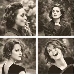 """I cannot express how simultaneously exquisite and devastating it is for me to look at this woman."" - I'll keep the original pinners description of Marion Cotillard."