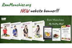 RawMunchies new website banner! Beauty Book, Raw Vegan Recipes, Glutenfree, Banner, Website, Healthy, Blog, Instagram, Banner Stands