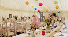 Garden marquee reception. Planning and co-ordination by Benessamy Weddings and Events. flowers and styling by Michele Gledhill, Marquee by Every Occasion Marquees