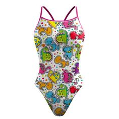 d3eb35647e Dino Party Skinny Strap #qswimwear Kids Suits, Swimming Gear, 4 Way Stretch  Fabric