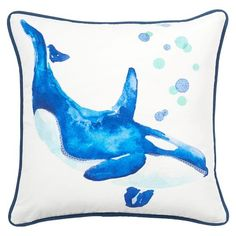 Sea Creature Pillow Covers, Whale
