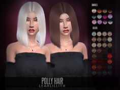 Polly Hair Found in TSR Category 'Sims 4 Female Hairstyles'