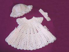 Ravelry: Pink Powder Puff Baby Girls Dress, Hat & Headband pattern by Susan Cassidy 4.00