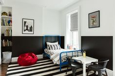 This brownstone in Park Slope got a bold exterior paint job and a bold modern interior face lift.