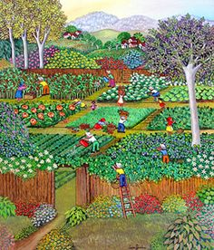 The Vegetable Pickers by Lucia Buccini