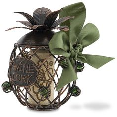 Pineapple Cork Cage® Bottle Ornament   Cherish a special moment by storing a memorable wine cork in our new Cork Cage® Ornaments!