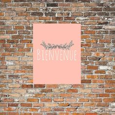 Bienvenue  Welcome Art Print  Instant by BohemianandHolistic, $5.00