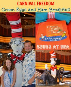 Green Eggs and Ham Breakfast on Carnival Freedom #SeussatSea #Cruise #Travel
