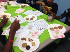 Cookie Throw Down, September 19, 2015. The kids did a taste test to determine their favorite cookie.
