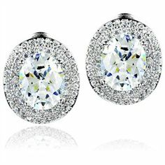 #Ella Jay Jewelry         #Everything ElseWholesale Lots                      #ELYA #Designs #Sterling #Silver #Oval #Cubic #Zirconia #Double #Halo #Earrings                         ELYA Designs Sterling Silver Oval Cubic Zirconia Double Halo Earrings                                   http://www.snaproduct.com/product.aspx?PID=8077361