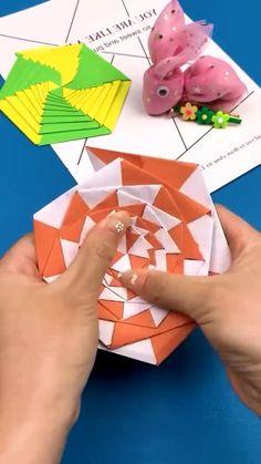 Paper Folding Crafts, Diy Crafts To Do, Paper Flowers Craft, Paper Crafts Origami, Paper Crafts For Kids, Jar Crafts, Instruções Origami, Pinterest Diy Crafts, Origami For Beginners