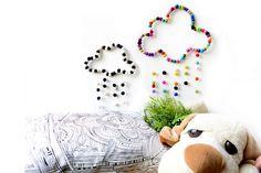 Cloud Mobile. COLOURFUL RAINBOW MOBILE. Baby Nursery Mobile. Kids room. Baby decor. Children room Homewares Gift. Felt balls by CloudDen on Etsy https://www.etsy.com/listing/188261475/cloud-mobile-colourful-rainbow-mobile