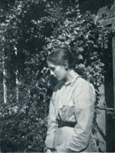 """Virginia Woolf at 18. """"He [Leslie Stephen] has presented me with a set of gardening tools - and commands me to convert the back garden - Already we have created a flower bed (minus the flowers it is true) and we propose to renew the grass - to have a border of lilies and other flowers - to rake the whole place clean - in short do not be surprised if you behold a miniature Kew when you are next here - Then, that we may not be wholly ornamental and wasteful - when the winter comes the flow"""