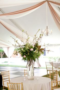 tall flower arrangement