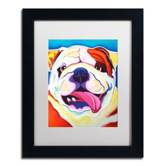 'Bully Grin' by DawgArt Framed Painting Print