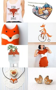 Spring Forest Collection I - For Fox sake! #fox #orange #gifts #spring #handmade #crafts #etsy