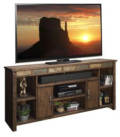 "LG-OW1275 75"" Old West Rustic TV Stand"