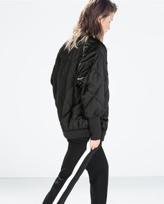 OVERSIZED QUILTED JACKET from Zara