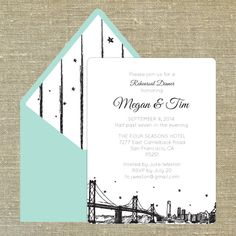 San Francisco Skyline any occasion invitation with by PixieChicago, $50.00