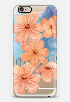 spring fever coral- transparent iPhone 6 case by Sylvia Cook | Casetify get $10 off using code: 8I2VFF #iphone6case,