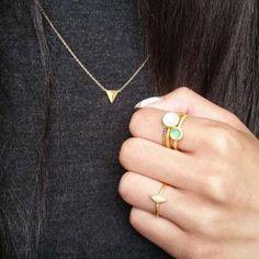 http://hvi.sk/r/4HCb - Ringstacking #hvisk #hviskbox #hviskstyling #hviskjewellery #fashionjewellery #ringstack #ringstacking #fashion #jewellery #gold #pink #green
