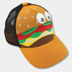 7e09025a627 This Toddler Boys  Hamburger Trucker Hat from Cat and Jack will keep the  sun out of your tiny trendsetters eyes. Designed to fit toddlers this  over-the-top ...