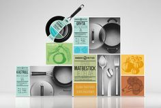 Anders Petter´s Identity - Packaging Design - Pots and pans, cutlery and utensils, modern design, cookery heritage, Swedish, illustrative imagery,