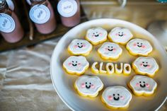 Cloud Cookies from a Airplane in the Clouds Aviator Birthday Party via Kara's Party Ideas KarasPartyIdeas.com (18)