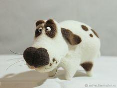Купить Собака - белый, собака, друг, подарок, миниатюра, сувенир, смешной, смешная собака