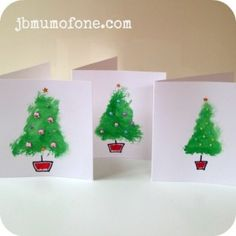Great Christmas craft for toddlers: super simple Christmas cards